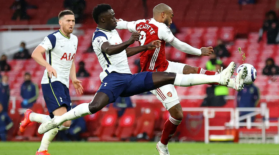 Davinson Sanchez launched an attack on Lacazette in the box that resulted to a penalty.